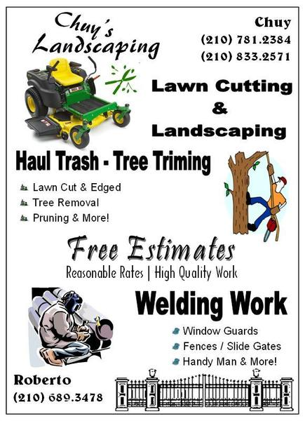 Chuy's Landscaping flyer